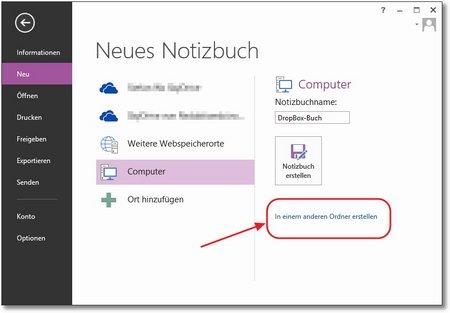 OneNote erlaubt es, lokale Notizbücher in einem beliebigen Ordner anzulegen, also auch einen auszuwählen, der mit einem Cloud-Dienst wie DropBox oder Google Drive synchronisiert wird.
