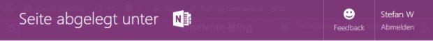 Dass die ausgeschnittene Webseite in OneNote gespeichert wurde, verrät der Webclipper. Wohin, darüber schweigt er sich aus.