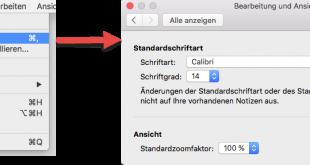 OSX-Standardschrift