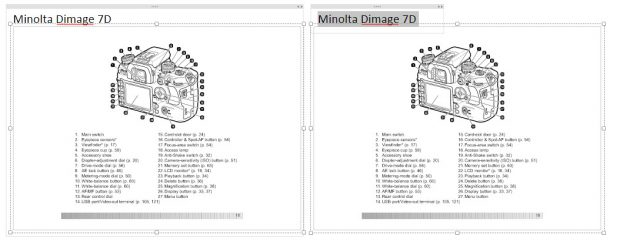 Links steckt das Bild im selben Rahmen wie der Text darüber. Rechts dagegen ist das Bild ein eigenständiges Objekt.