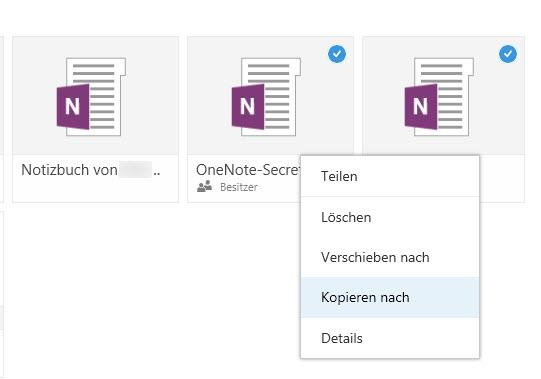 Für OneNote-Notizbücher auf OneDrive gibt es nicht mal einen Download-Befehl.